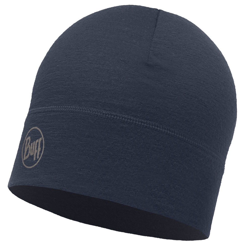 Merino Wool 1 layer hat · BUFF hue · Solid Navy