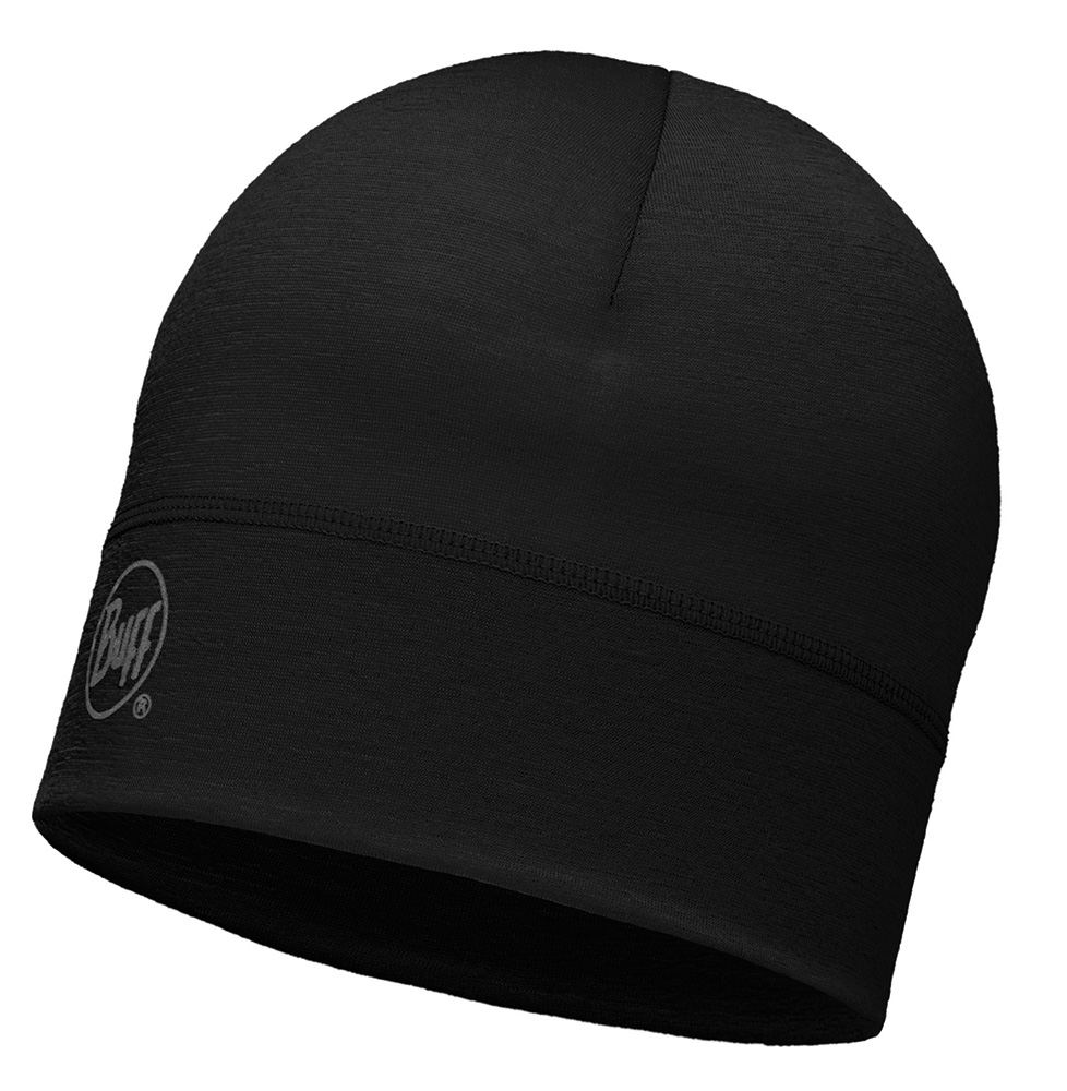Merino Wool 1 layer hat · BUFF hue · Solid Black