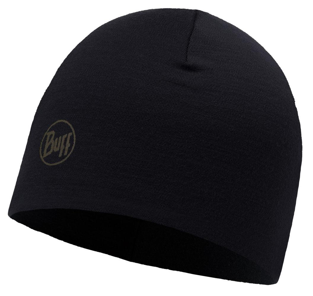 Merino Wool Thermal Hat · BUFF hue · til håndværkere · Solid Black