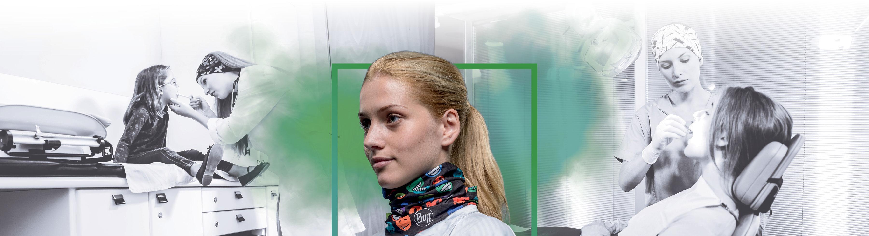 BUFF - Medical collection - Halsedisse - Halsrør - halsbeklædning til industri og professionelle