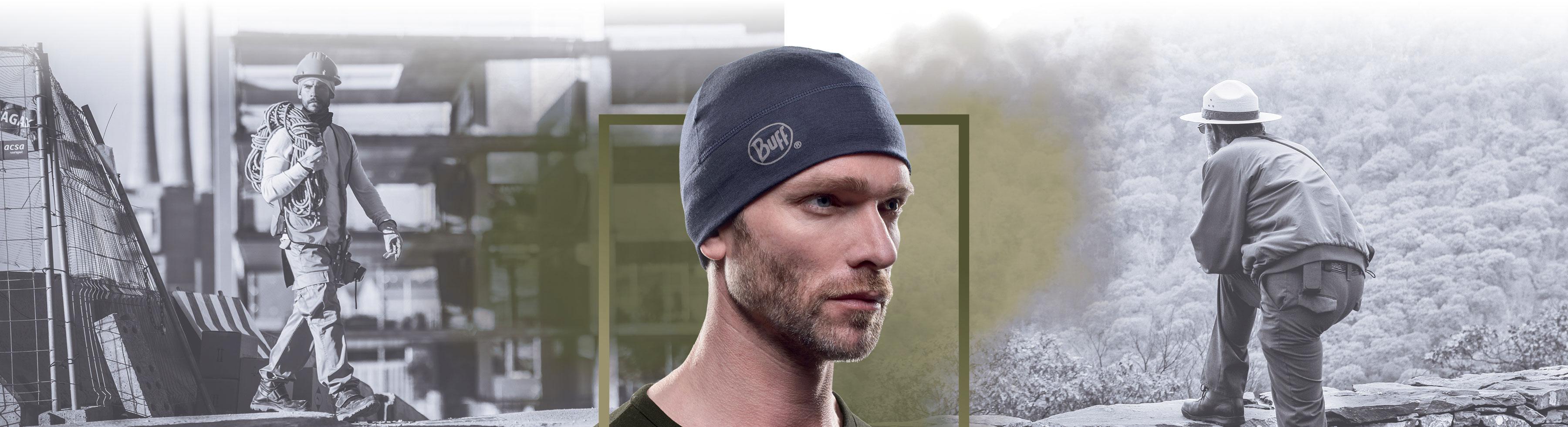 BUFF - Merino Wool 1 Layer Hat - Hovedbeklædning - kasket - hat til industri og professionelle