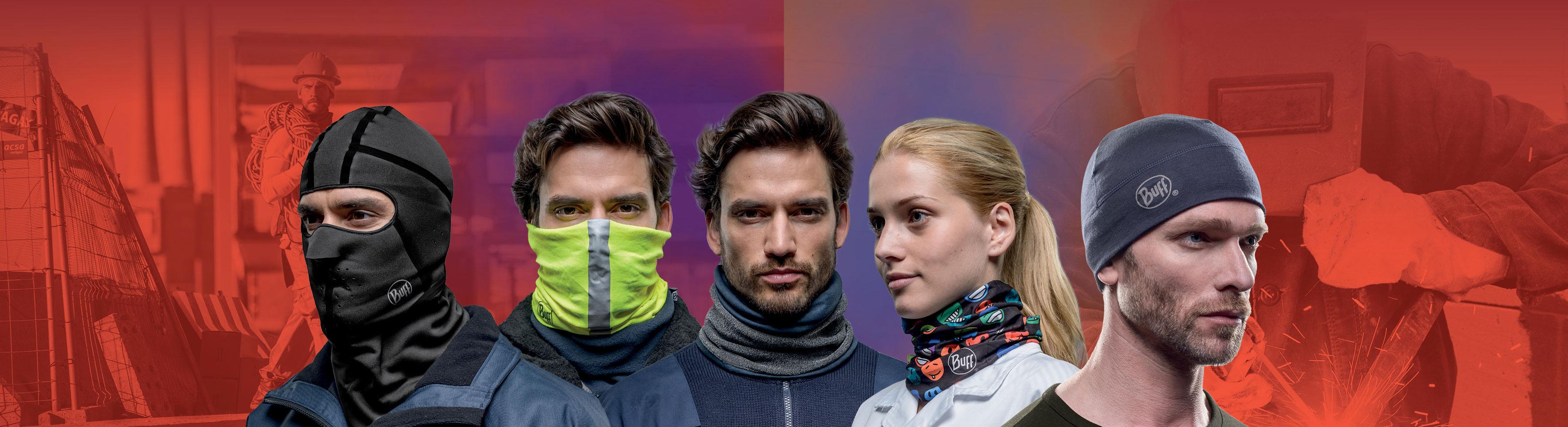 BUFF - Halsdisse - halsrør - huer med firma identitet og eget design